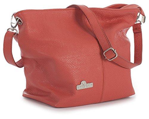 Genuine Adal Storage Lush Italian Bag Bag Medium Shoulder Orange LiaTalia Leather Protective with Womens Hobo 57wqv