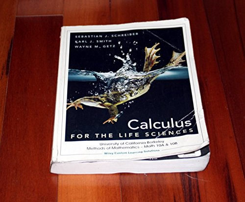 Calculus for Life Sciences (Berkeley Custom)