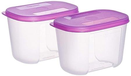 Tupperware Mini Freezer Mate Set 300ml  Pink    Set of 2 Jars   Containers