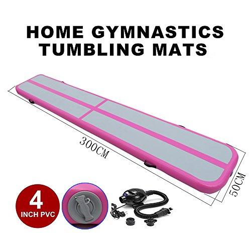STAR PARASELENE Inflatable Gymnastics Tumbling Mat Air Tumbling Track Air Floor Mat Home Use/Cheerleading/Beach/Park Water