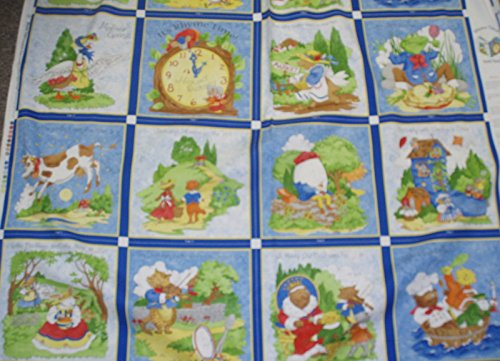 Rhyme Time nursery rhymes quiet book panel fabric (Nursery Rhyme Fabric)