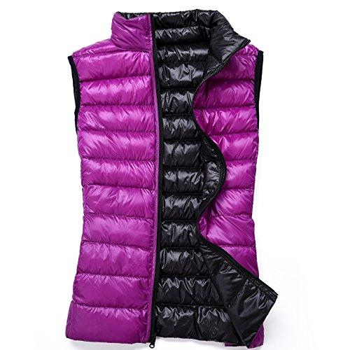 Xuanku Autumn And Winter Slim Was Thin Double-Sided Wear Portable Thin Vest Down Vest Vest Vest Jacket D
