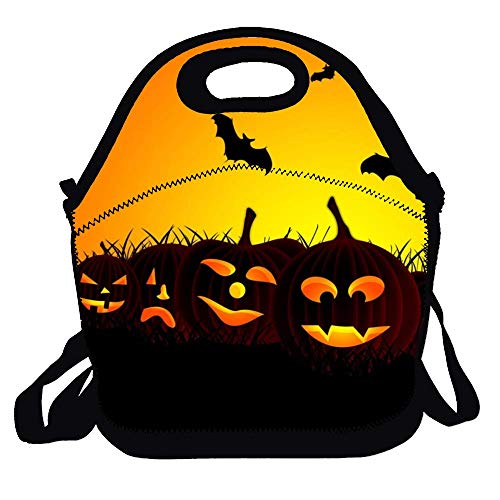 Love fled Halloween HD Wallpapers Lunch Bag Insulated Lunchbox Thermal Lunch Tote Bag Water Resistant Lunch Box&Food Container -Great for Travel,Outdoors, Work -