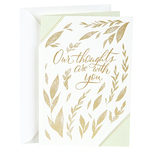 Hallmark Sympathy Greeting Card (Our Hearts are with You) (Words Of Sympathy For Loss Of Mother)