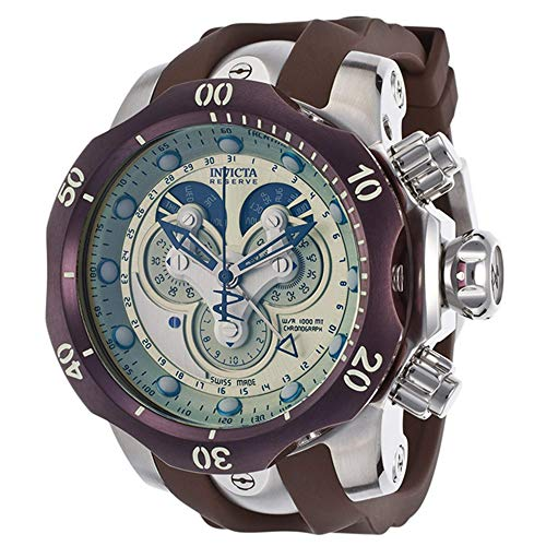 Invicta Men's 14461 Venom Analog Display Swiss Quartz Brown Watch