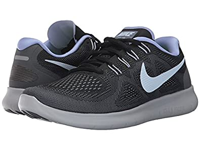 watch 43c27 b8b33 Nike Women's Free Rn 2017 Running Shoe (12 B US, Black/Hydrogen Blue-Dark  Grey)