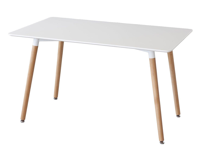 Mesa de comedor minimal, inspirada en diseño Charles & Ray Eames