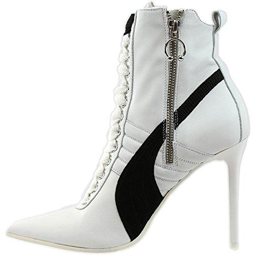 PUMA Women's High Heel Leather Rihanna White Black White Athletic Shoe xP43XPtHyp