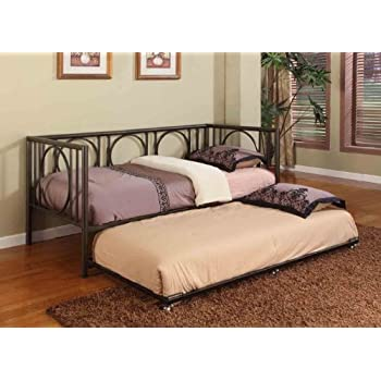 Amazon Com Texture Black Metal Twin Size Day Bed Daybed