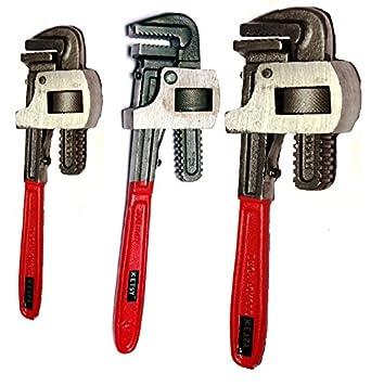KETSY 950 Heavy Duty Pipe Wrench 10, 12. 14 Set of 3Pcs