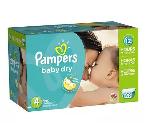 Pampers Baby Dry Diapers Size 4 Giant Pack 128.0ea (pack of 2) by Diapers.com