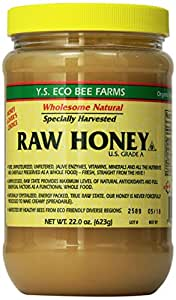Y.S. Eco Bee Farms Raw Honey - 22 oz, Pack Of 2
