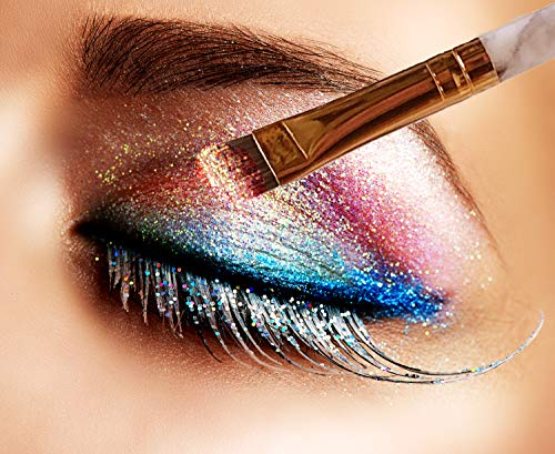 Precision Perfect Salon Makeup Brush Set | 10 Brushes Beauty Kit | Blending Eyeshadow, Eye, Eyeliner, Blush, Shadow, Lip and Eyebrow | Face Contour Make Up or Use as Blender | Women & Men