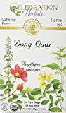 CELEBRATION HERBALS Dong Quai Organic 24 Bag, 0.02 Pound