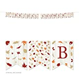 Andaz Press Fallin' in Love Autumn Fall Leaves Wedding Party Collection, Hanging Pennant Party Banner with String, Bridal Shower, 5-Feet, 1 Set