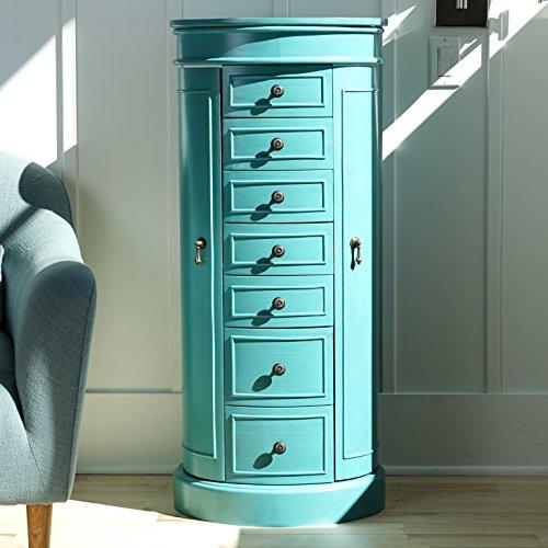 Jewelry Armoire Cabinet Mirror Standing Chest Organizer ...