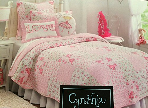 Cynthia Rowley Jovie Cottage Pink Twin Quilt Amp Sham Set