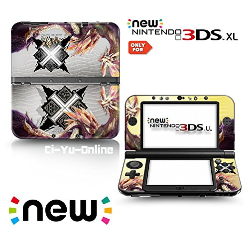 Ci-Yu-Online VINYL SKIN [new 3DS XL] - Monster Hunter X #8 Tamamitsune - Limited Edition STICKER DECAL COVER for NEW Nintendo 3DS XL / LL Console System