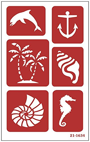 Armour Products Etch Over N Over Stencil, Seashore