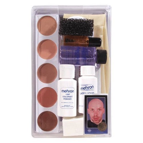 [Kmp-bc Mehron Bald Cap Make up Kit] (Clown Around Makeup Kit)