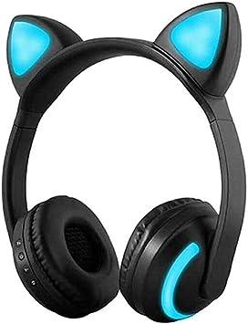 Treesine - Auriculares inalámbricos con Bluetooth y LED para niños ...