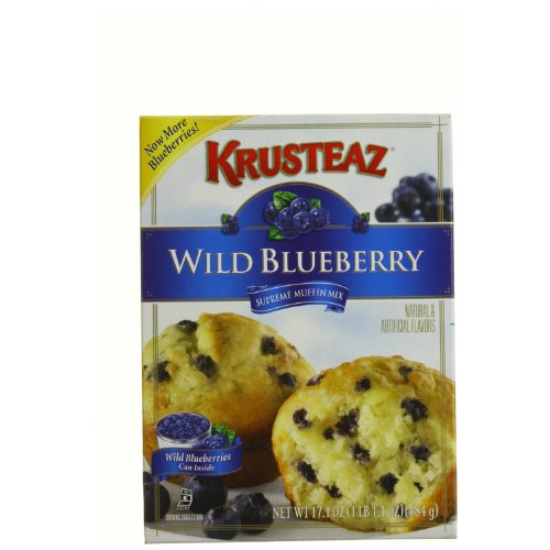 Krusteaz Wild Blueberry Supreme Muffin Mix 17.1 - Ounce Boxes (Pack of 6) by Krusteaz