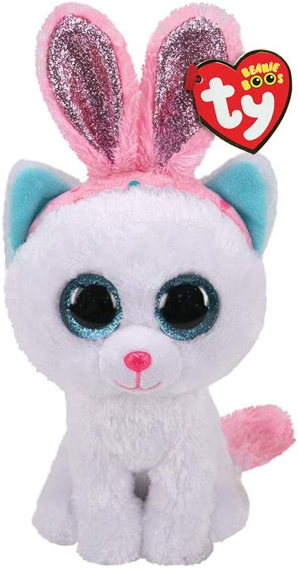 Alaska Stuffed Animals, Amazon Com Claire S Ty Beanie Boo Purr Ly The Easter Cat Soft Plush Toy For Girls White Small 6 Inches Ty Beanies Toys Games