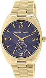 Michael Kors Callie Champagne Dial Gold-tone Unisex Watch MK3345