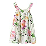 Kavitoz-baby dress Clearance, Girl Dress, for 2-6 Years Old, Fashion Summer Cute Baby Kids Girl Dress Toddler Princess Party Floral Print Tutu Dress (Green, 5-6T)