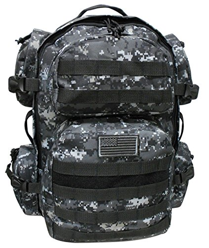Digital Urban Camo - NEXPAK Large Tactical Molle Hydration ReadyBackpack Expandable Daypack Bag Urban Digital Camouflage