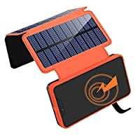 ORITO Solar Charger 20000mAh, Wireless P...