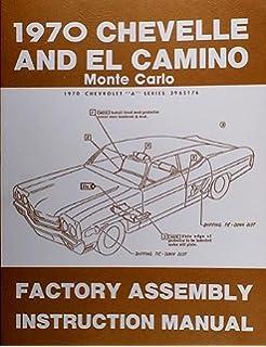 1970 chevelle wiring diagram manual reprint bu ss el camino 1970 chevelle factory assembly manual el camino monte carlo bu ss
