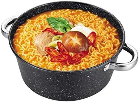 ZYR Pot à Soupe Cuiseur Multifonction antiadhésif Pot à Lait Pot à Lait Cuisinière à Induction Cuisinière à gaz Poêle à Frire à Double Usage Cuisson, Utilisation de gaz 24 cm