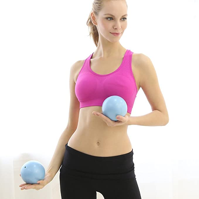 HHORD Suave de PVC pesas mancuernas fitness bola mujer hogar fitness yoga bola 1 kg * 2 , blue: Amazon.es: Deportes y aire libre