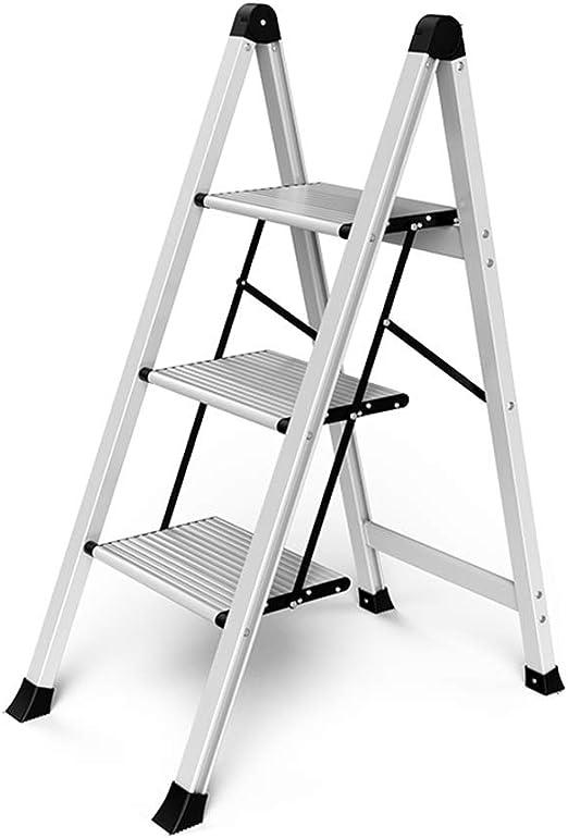 Escalera plegable, Mini taburete pequeño de cocina, Escalera metálica antideslizante de aluminio, Diseño ligero, Para taburetes de cocina,herramientas de jardinería doméstica Pequeña escalera ZDDAB: Amazon.es: Hogar