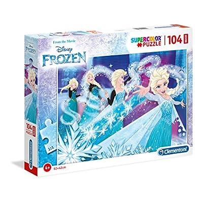 Clementoni Supercolor Puzzle Frozen 104 Pezzi Maxi Multicolore 23729
