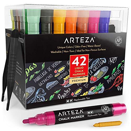 ARTEZA Water Based Chalkboard Replaceable Restaurants