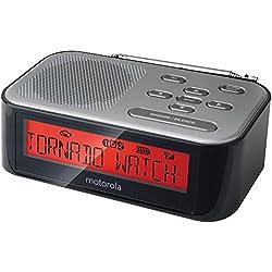 Motorola MWR822 Weather Alert Radio & Alarm Clock with AM/FM (Black)