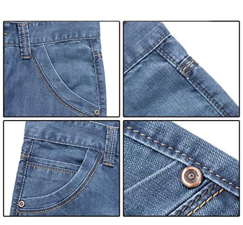 Dritti Pantaloni Alta A Slim Giovane Casual Da Denim Moda Blu Vita R Retrò Jeans Uomo Fit Media WPqPI0