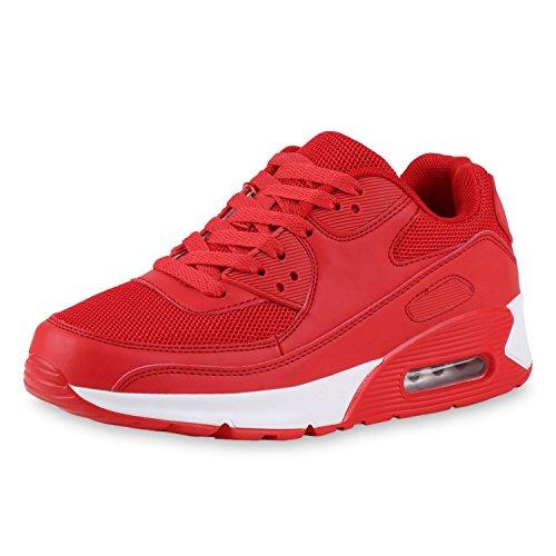 Auffällige Unisex Angenehmer Eyecatcher 45 Look Damen Japado Sportlicher Sneakers Gr Herren Tragekomfort Neon Rosso Alltags Knallige 36 Sportschuhe Rot Xwx7CxFq