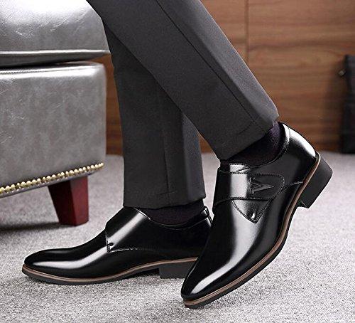 Koyi Nouvelles Chaussures en Cuir D'Affaires Formelles Hommes Chaussures Britanniques Occasionnels Boutonnées Chaussures Basses Noir B4upk