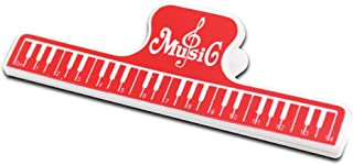 Beito 2pcs Musique Partition Clips Page Holder Clips Clamp Dossier Outil Partitions Holder Piano Book Clamp Rouge