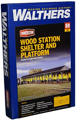 Walthers Cornerstone Series Kit HO Scale Wood Station Shed and Platform