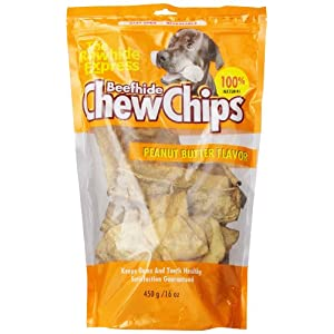 The Rawhide Express Peanut Butter Flavored Dog Chew, 1-Pound