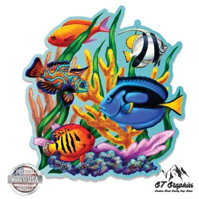 (Coral Reef Tropical Fish Colorful - 3