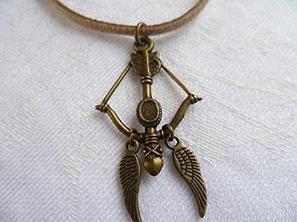 amazon com crossbow choker crossbow jewellery wings choker