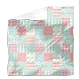 Patchwork Love Flat Sheet: King Luxury Microfiber, Soft, Breathable