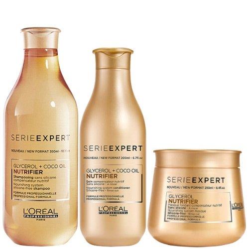 L'Oréal Professionnel Serie Expert Nutrifier Shampoo 300ml, Conditioner 200ml et masque 250ml Lot L' Oreal