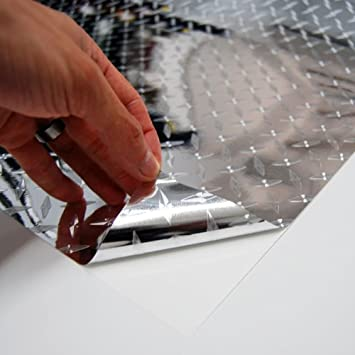 24 x 72 Diamond Plate Diamond Plate Film Vinyl Sheet Roll Simple Curve Wrap