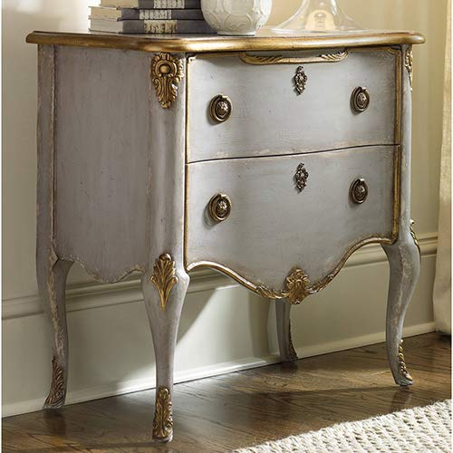 Hooker Furniture Seven Seas French Two Drawer Accent Chest Console in Light Blue by Hooker Furniture